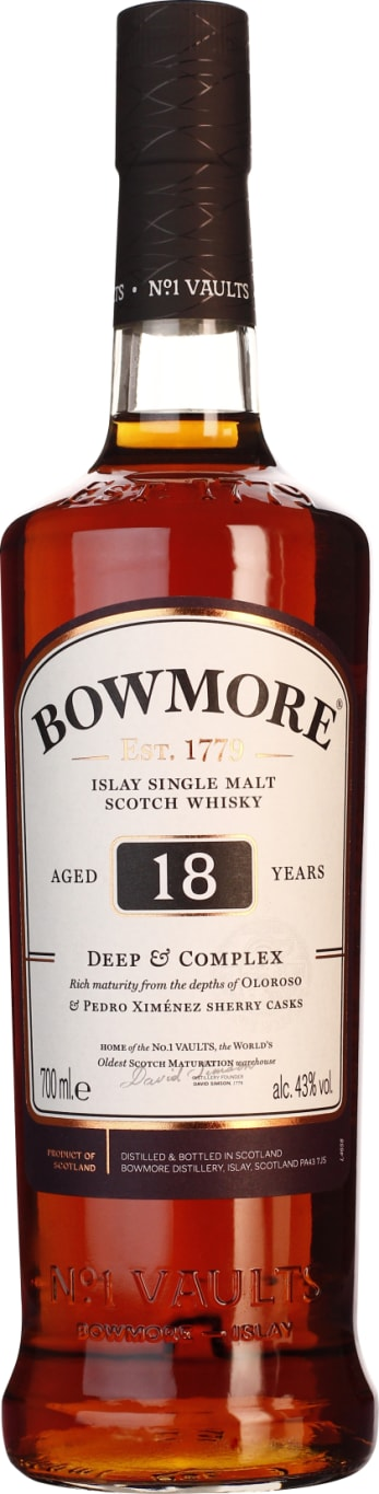 18 years Bowmore Single Malt & Deep Complex 70CL - Aristo Spirits