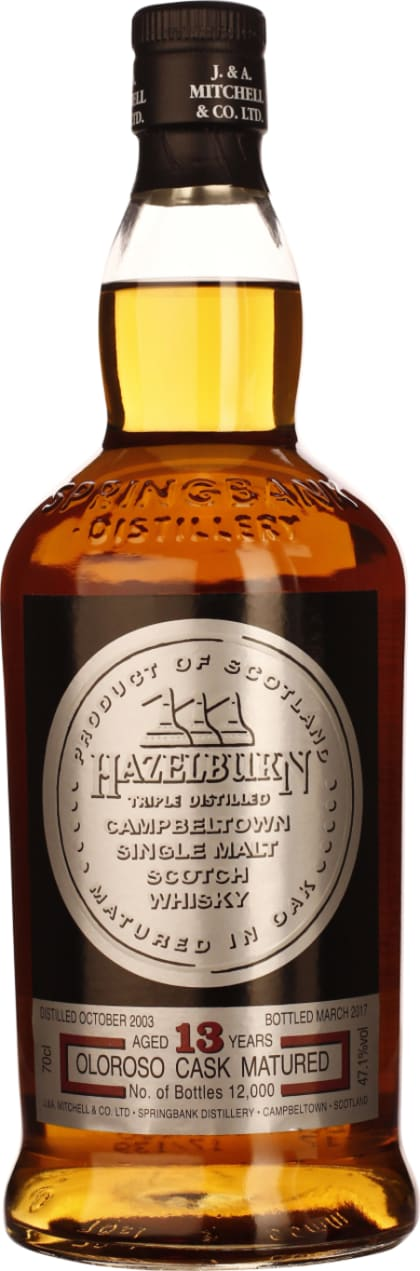 Hazelburn 13 years Oloroso Sherry Cask 70CL - Aristo Spirits