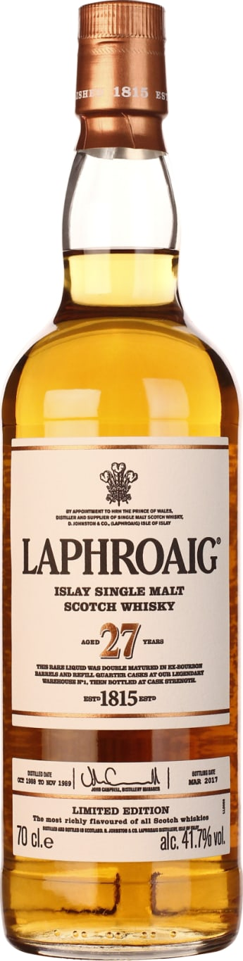 Laphroaig Single Malt 27 years 70CL - Aristo Spirits