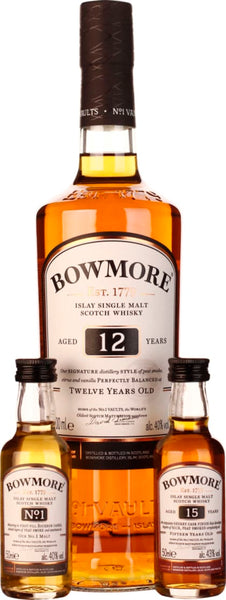 Bowmore Tasting Pack 12 & 15 years' No.1 Giftset 80CL - Aristo Spirits