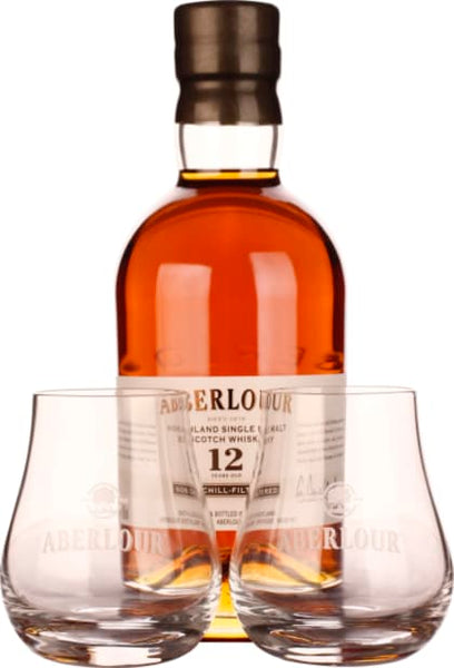 Aberlour 12 years non-chill filtered Giftset 70CL - Aristo Spirits