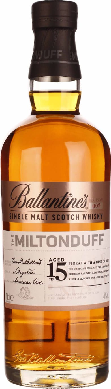 Ballantines 15 years Miltonduff 70CL - Aristo Spirits