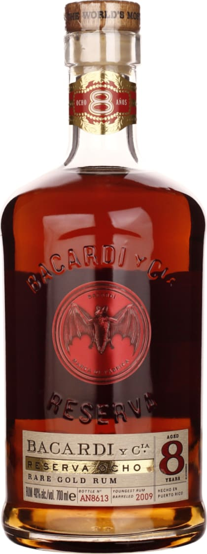 Bacardi Reserva 8 years Ocho 70CL - Aristo Spirits