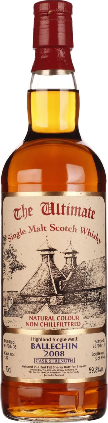 The Ultimate Ballechin 2008 Cask Strength 70CL - Aristo Spirits