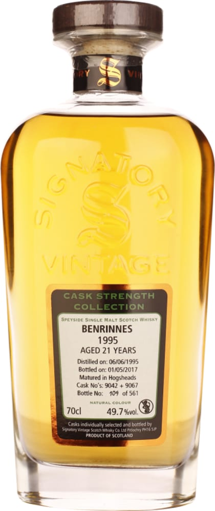 Signatory Benrinnes distillery 21 years in 1995 Cask Strength 70CL - Aristo Spirits