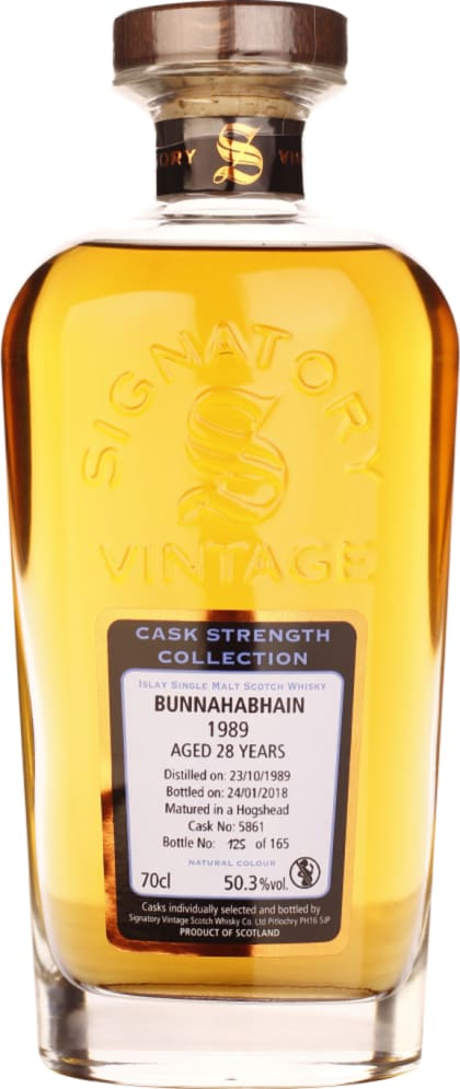 Signatory Bunnahabhain 1989 Cask Strength 28 years 70CL - Aristo Spirits