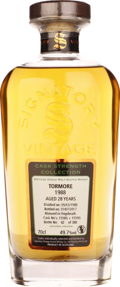 Signatory Tormore 29 years in 1988 Cask Strength 70CL - Aristo Spirits
