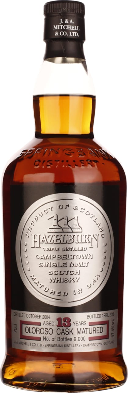 Hazelburn 13 years in 2004 Oloroso Sherry Cask 70CL - Aristo Spirits