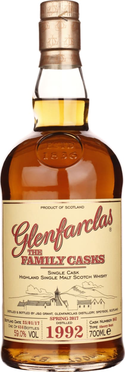 Vintage 1992 Glenfarclas Family Casks 70CL - Aristo Spirits
