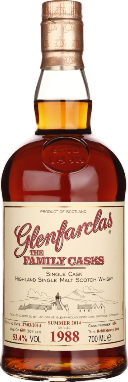 Vintage 1988 Glenfarclas Family Casks 70CL - Aristo Spirits
