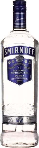 Smirnoff Blue Vodka 1LTR Export Strength - Aristo Spirits