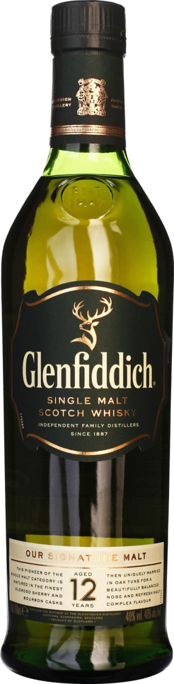 Glenfiddich Single Malt 12 years 70CL - Aristo Spirits