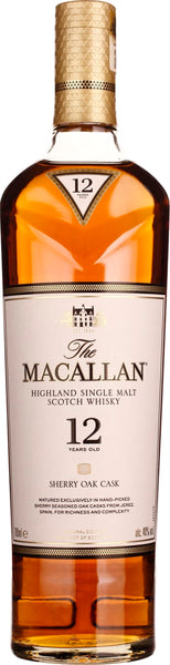 The Macallan Sherry Oak 12 years 70CL - Aristo Spirits