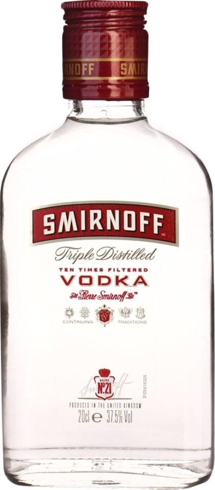 Smirnoff Vodka 20cl - Aristo Spirits