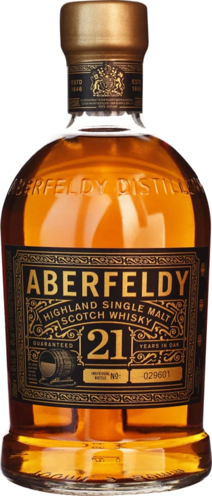 Aberfeldy 21 years Single Malt 70CL - Aristo Spirits