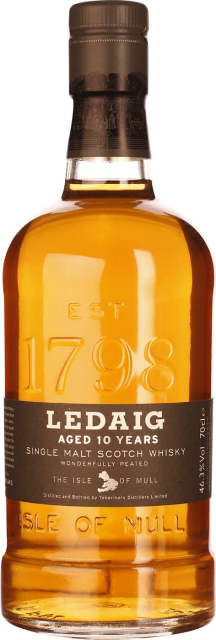 Ledaig 10 years Single Malt 70CL - Aristo Spirits