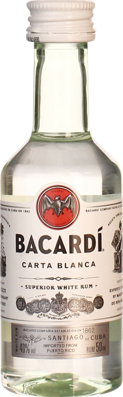 Bacardi Carta Blanca miniatures 10X5CL - Aristo Spirits
