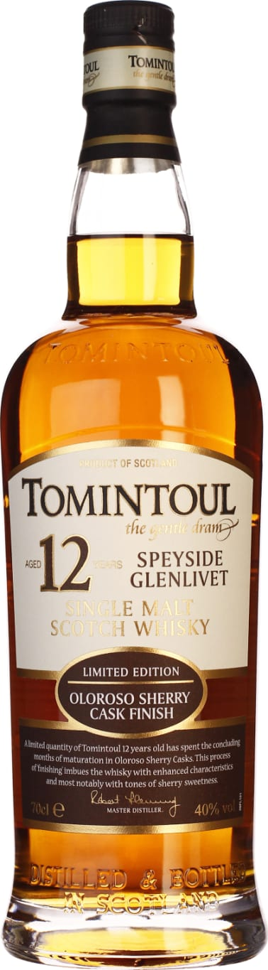 Tomintoul 12 years Oloroso Sherry Cask Finish 70CL - Aristo Spirits