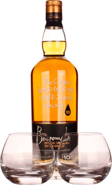 Benromach 10 years Giftset 70CL - Aristo Spirits