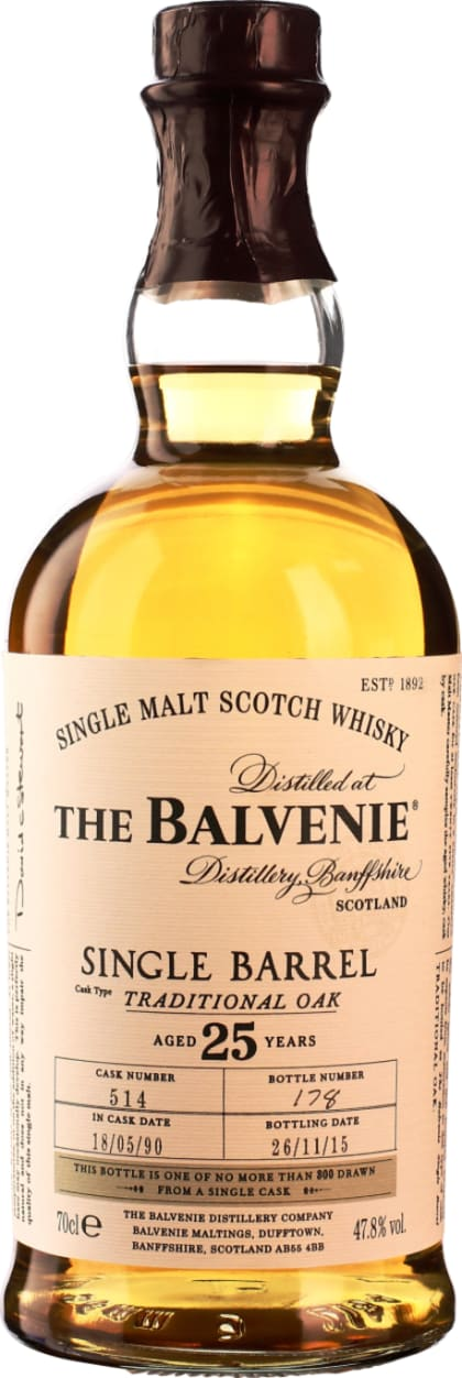Balvenie Single Barrel 25 years 70CL - Aristo Spirits