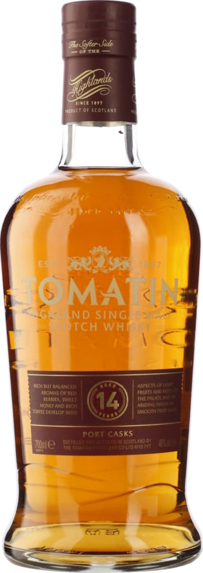 Tomatin 14 years Port Wood Finish 2016 70CL - Aristo Spirits