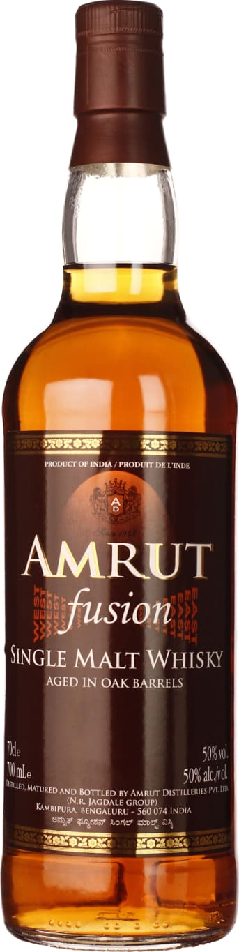 Amrut Fusion Indian Single Malt 70CL - Aristo Spirits