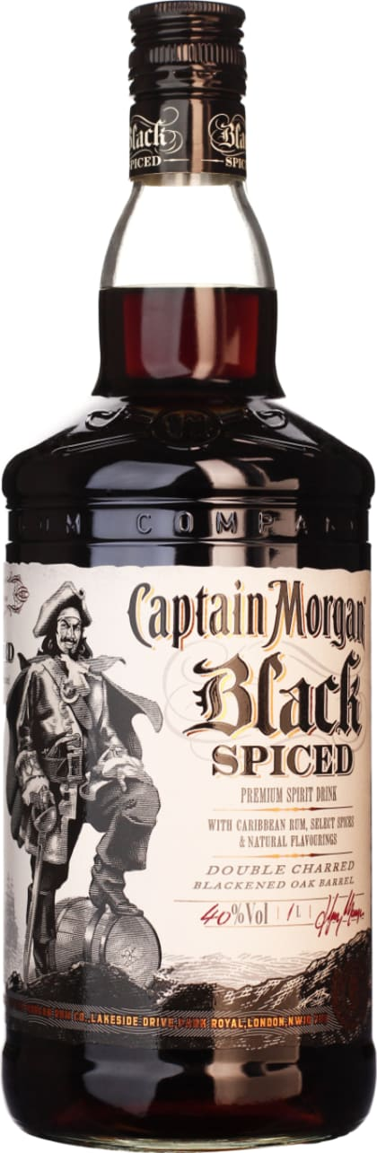 Captain Morgan Spiced Black 1LTR - Aristo Spirits