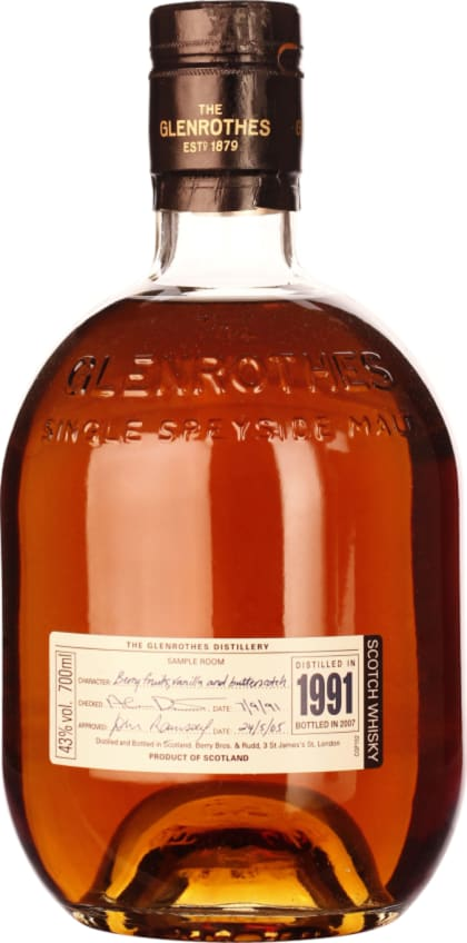 The Glenrothes Vintage 1991-2007 70CL - Aristo Spirits