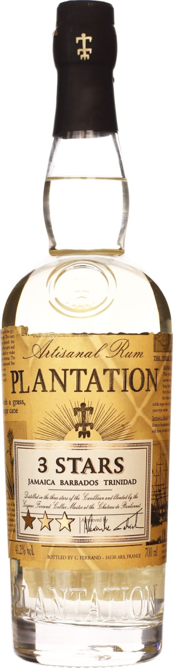 Plantation 3 Stars White Rum 70CL - Aristo Spirits