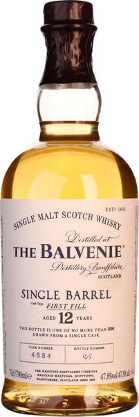 Balvenie Single Barrel 12 years First Fill 70CL - Aristo Spirits