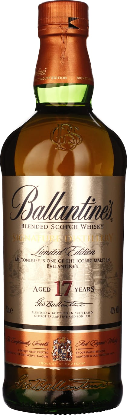 Ballantines 17 years Signature Distillery Miltonduff Edition 70CL - Aristo Spirits