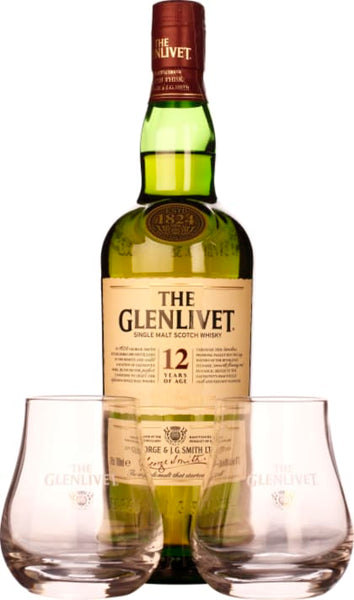 The Glenlivet 12 years Giftset 70CL - Aristo Spirits