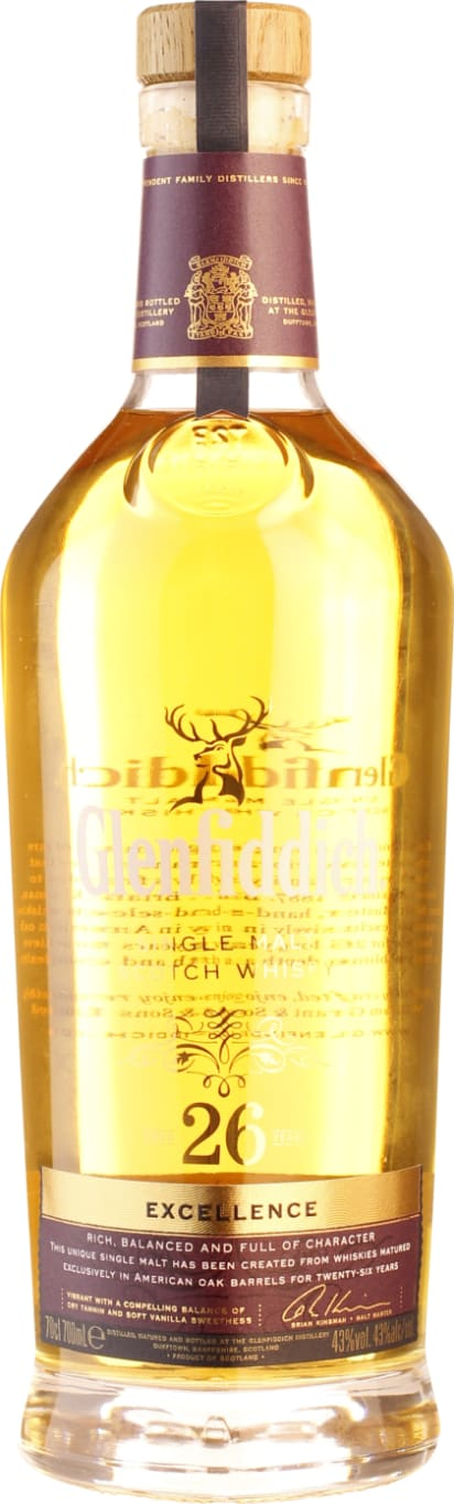 Glenfiddich Single Malt 26 years 70CL - Aristo Spirits