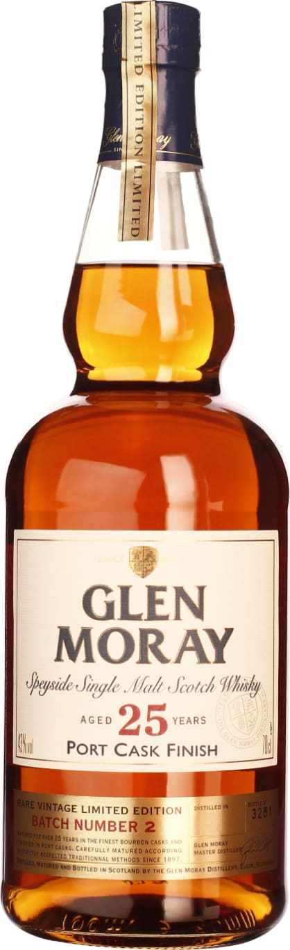 Glen Moray 25 years Port Cask Finish Single Malt 70CL - Aristo Spirits