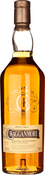Cragganmore 25 years Single Malt 70CL - Aristo Spirits