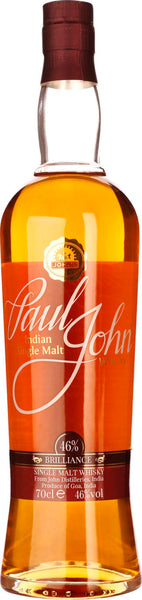 John Paul Brilliance Indian Single Malt 70CL - Aristo Spirits