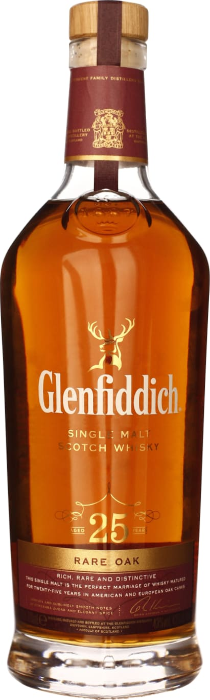 25 years Glenfiddich Rare Oak Single Malt 70CL - Aristo Spirits