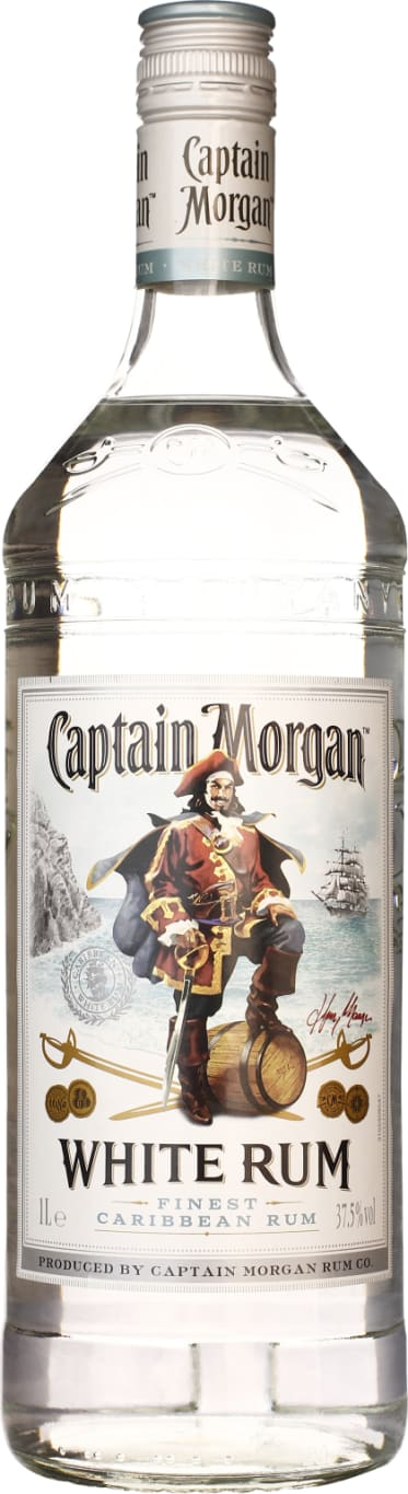 Captain Morgan Rum White 1LTR - Aristo Spirits