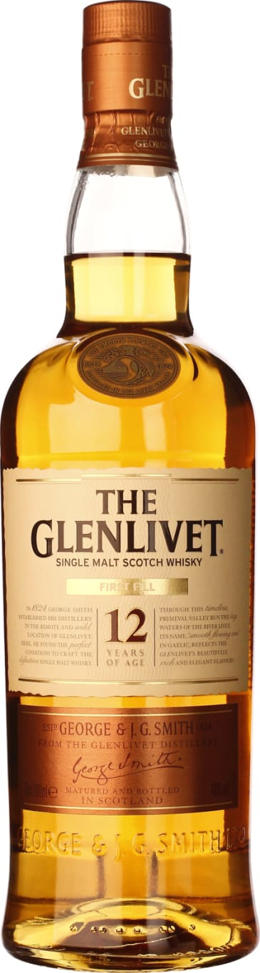 The Glenlivet Single Malt First Fill 12 years 70CL - Aristo Spirits