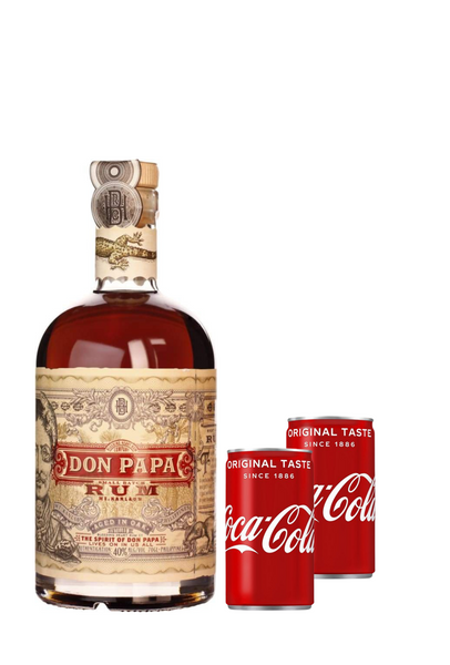 Don Papa Rum 70 CL + 2 coca cola