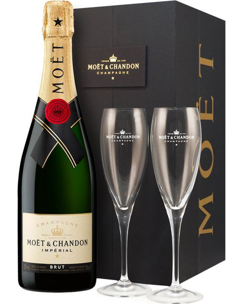 MOET & CHANDON IMPERIAL BRUT & 2 GLASSES