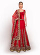 sonascouture - Classy Red Bridal Lengha BW020