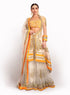 Orange And Ivory Jacket Lengha BW029
