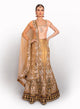 sonascouture - Gold/Peach And Deep Purple Lengha BW036