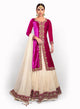sonascouture - Magenta And Cream Jacket Length BW054