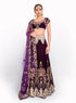 Royal Purple Velvet Bridal Lengha BW058