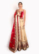 sonascouture - Red Velvet And Net Lengha BW085