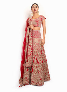 sonascouture - Traditional Red Lengha BW106