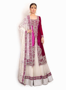 sonascouture - Velvet And Net Jacket Lengha BW107