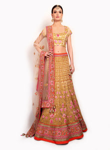 Soft Net Gold Lengha BW109 - Sonas Haute Couture